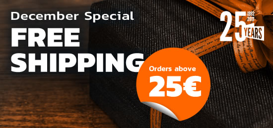 Free Shipping over 25€!